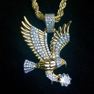 Other - EAGLE DIAMONDS CZ 18K GOLD CHAIN MADE IN ITALY